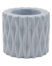 Pleat textured ceramic tealight holder