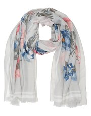 Italian Collection floral gold foil print scarf