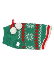Festive fairisle pom pom pet jumper