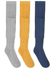 Cable knit tights three pack
