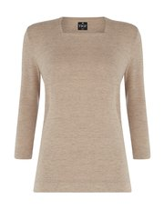 TIGI luxury soft square neck top
