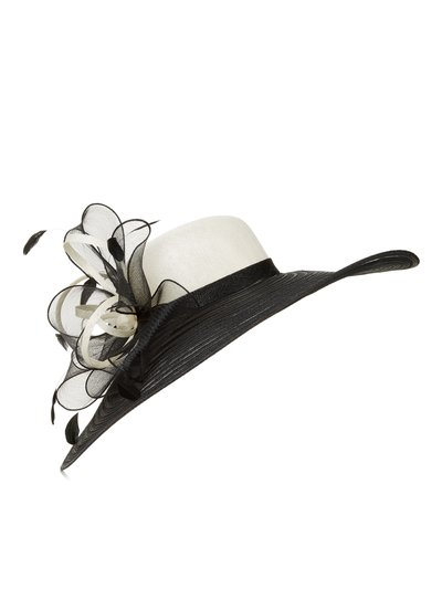 Jacques Vert textured feather hat