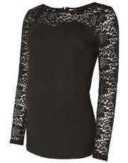 Mamalicious maternity lace sleeve top