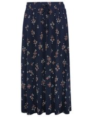 Plus tile print maxi skirt
