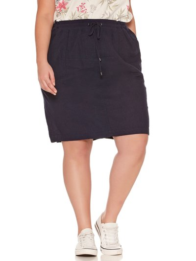 Plus linen blend skirt