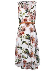 Izabel floral belted midi dress
