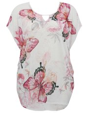 Plus butterfly print knitted top
