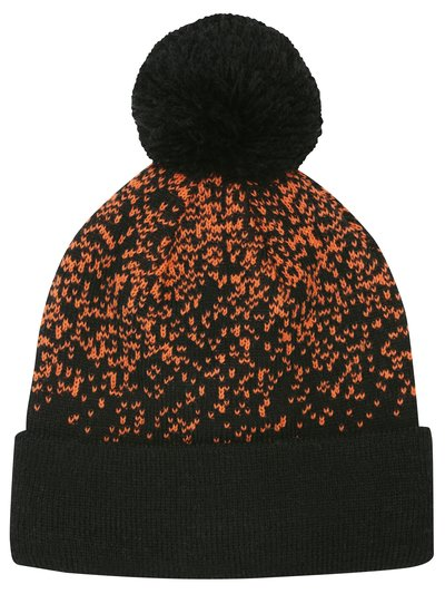 Orangle speckle bobble hat