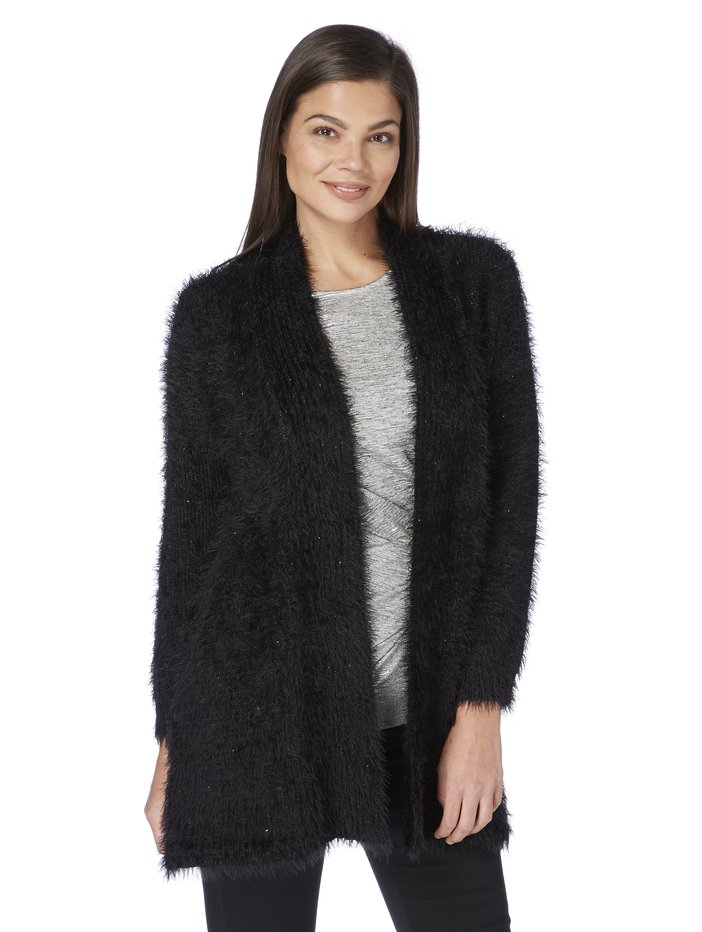 Roman Originals Fluffy Sequin Cardigan | Women's Roman Originals ...
