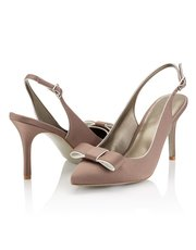 Jacques Vert piped bow trim shoe