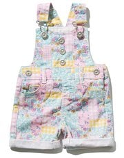Patchwork dungarees
