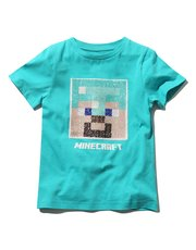 Minecraft two way sequin t-shirt