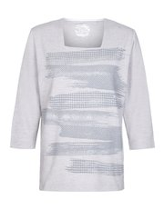 TIGI brushstroke printed top