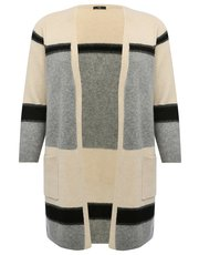 Plus colour block stripe cardigan