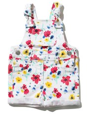 Floral print dungarees