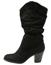 Rouched calf boot