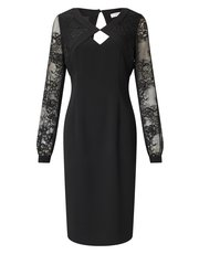Jacques Vert lace blouson sleeve dress