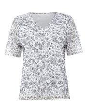 TIGI v neck floral print top