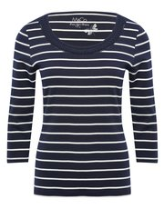 Stripe plait neck top