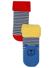 Bear and stripe socks two pack