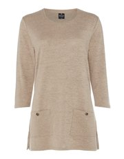 TIGI luxury soft crew neck tunic top