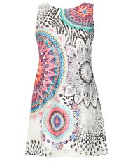 Izabel floral and mosaic shift dress