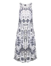 Izabel tribal print midi dress