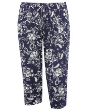 Plus cropped floral trousers