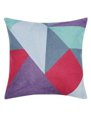 Geometric colour cushion
