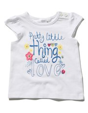 Pretty little thing slogan t-shirt