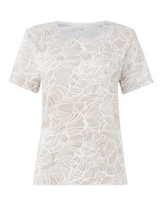 TIGI square neck floral print top