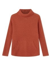 Dash texture rib turtle neck jumper