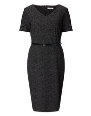 Precis Petite textured mono dress