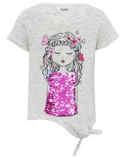 Girl print two way sequin t-shirt