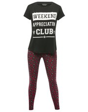 Weekend club slogan pyjamas