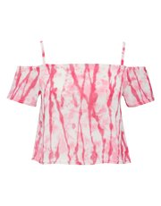 Tie Dye cold shoulder crop top