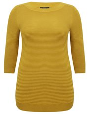 Plus stripe textured tunic jumper