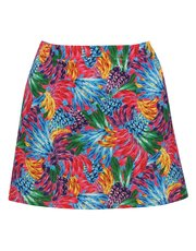 Tropicana print swim skirt