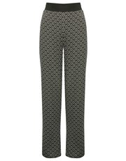 Diamond print pyjama trousers