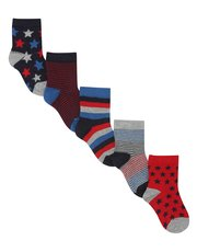Star and stripe socks five pack