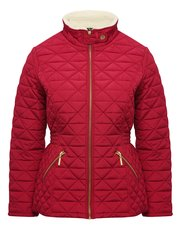 Petite borg collar quilted jacket
