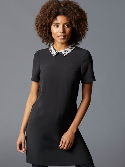 Petite animal collar shift dress