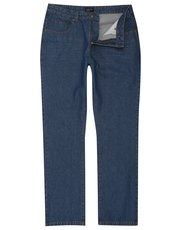 Blue wash straight leg jeans