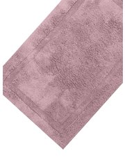 White deep pile bathmat