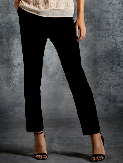 Slim leg velvet trousers