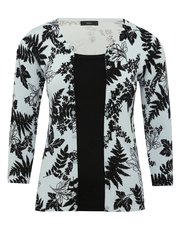 Two in one floral cardigan top