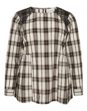 Junarose Plus check blouse