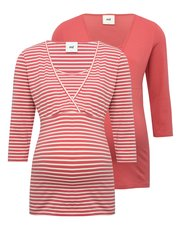 Mamalicious stripe print nursing top two pack