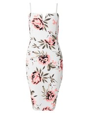Quiz floral print v bar dress