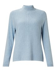 Eastex stripe stitch turtle neck jumper